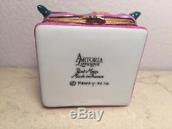 Limoges Box GARFIELD CAT ARTORIA Peint Main France Rare Trinket Vintage