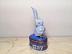 Limoges Box HEREND-Style BUNNY RABBIT Peint main France RARE Vintage