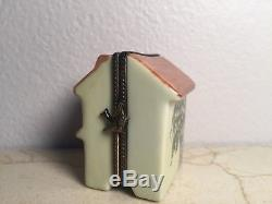 Limoges Box HOUSE WITH LITTLE GIRL Peint Main France Rare Vintage