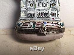 Limoges Box LA BASILIQUE DU SACRE COEUR Vintage RARE Peint main France