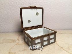 Limoges Box MILK BOTTLE CARRIER ROCHARD Peint main France RARE Vintage