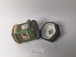 Limoges Box PARIS NEWSPAPER KIOSK Decor Ceram France Peint Main