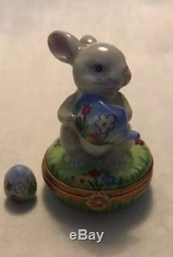 Limoges Box Peter Rabbit With Egg