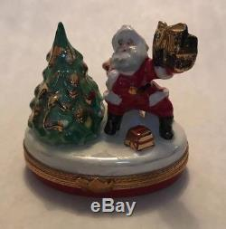 Limoges Box Santa With Presents And Tree