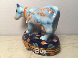Limoges COW NOT A COW ARTORIA 6/1000 Peint main France RARE Vintage Box