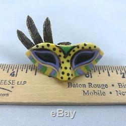 Limoges Carnival / Mardi Gras Mask Trinket Box Porcelain Hand Painted