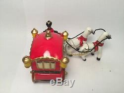 Limoges Carriage with Coachman and Horses Peint Main France Trinket Box