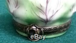 Limoges Chamart Trinket Box, Rabbit Nesting in a Cabbage
