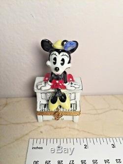 Limoges Disney MINNIE MOUSE No. 589 ARTORIA Peint main RARE Adorable