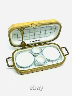 Limoges Eximious Picnic Basket With Cups & Saucers Trinket Box