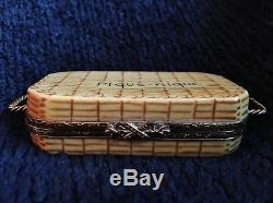 Limoges France Authentic Porcelain Hand Painted Box picnic basket