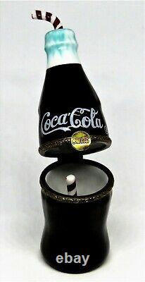 Limoges France Box Parry-vieille Coca-cola Bottle & Straw Coke Le Rare