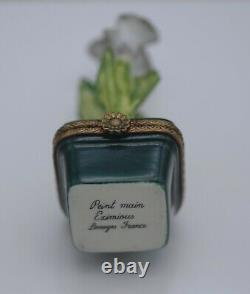 Limoges France Eximious Calla Lilies In A Pot Pill Box Very Rare
