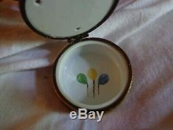 Limoges France Hand Painted Merry-Go-Round Trinket Box. ROCHARD