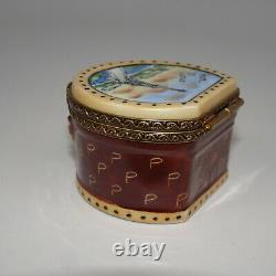 Limoges France Hat Box Paris Trinket Box