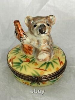 Limoges France Koala Trinket Box Eximious