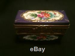 Limoges France Marque De Posse Trinket Box With 4 Jeweled Perfume Bottles