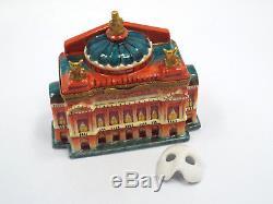 Limoges France Marque Deposee Paris Opera House Phantom Mask Trinket Box