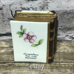 Limoges France Peinl Main Rochard Perfumes Book/Bottle Mini Trinket Box Painted