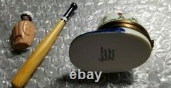 Limoges France Peint Main Baseball Helmet, Ball, Bat, Glove and Trinket Box