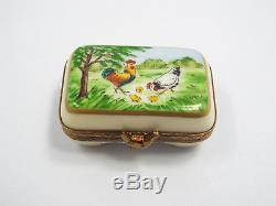 Limoges France Peint Main Carton of Eggs with Easter Eggs Trinket Box, #119/300