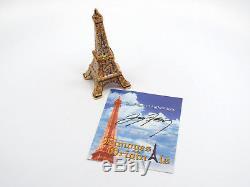 Limoges France Peint Main Eiffel Tower Trinket Box