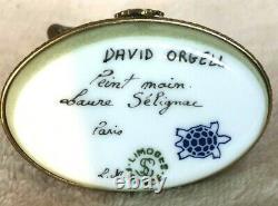 Limoges France Peint Main Laure Selignac Paris David Orgell Bear Trinket box