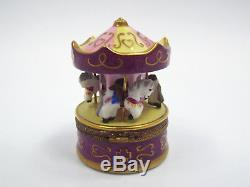 Limoges France Peint Main Merry Go Round Trinket Box, Limited Edition #59/1000