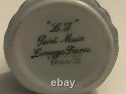 Limoges France Peint Main Porcelain Trinket Box Lighthouse ker Moet Ship Clasp