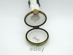 Limoges France Peint Main Trinket Box Dog Spaniel Limited Edition #249/300