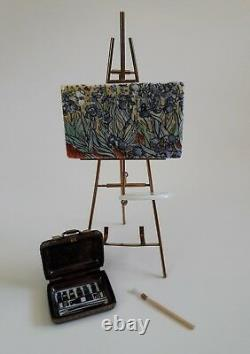 Limoges France Peint Main Trinket Box & Easel Limited Edition 26 / 250 Van Gogh