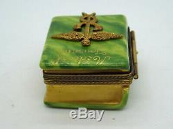 Limoges France Peint Main Trinket Box Medical Journal Doctor Book #284/300