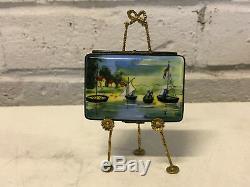 Limoges France Porcelain Trinket Box Claude Monet Argenteuil