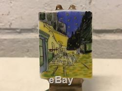 Limoges France Porcelain Trinket Box Van Gogh Cafe Terrace at Night