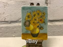 Limoges France Porcelain Trinket Box Van Gogh Sunflowers