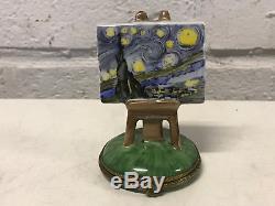 Limoges France Porcelain Trinket Box Van Gogh The Starry Night