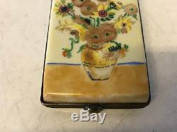 Limoges France Porcelain Trinket Box Vincent Van Gogh Sunflowers LE 141/400