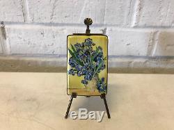 Limoges France Porcelain Trinket Box Vincent Van Gogh Vase with Irises LE 15/400