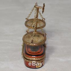 Limoges France Rochard Hand Painted Scales Balance of Justice Law Legal Trinket