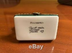 Limoges France Rochard Trinket Box Artist Easel, Peint Main Fruit Bowl, Signed
