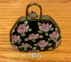 Limoges France Trinket Box Mary Poppins Flower Carpet Bag Purse Disney Artoria