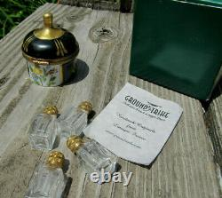Limoges France Trinket Peint Main Boxes Mixed withPerfume Bottles PARTS LOT AS IS