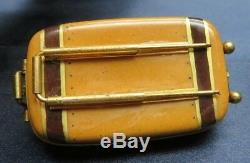 Limoges France USA Paris Security Suitcase Luggage Peint Main Trinket Box Double
