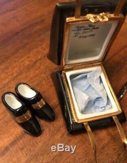 Limoges FranceMoulin Rouge Trinket Box Signed Pierie Arquie 292/750 Shoes Inside