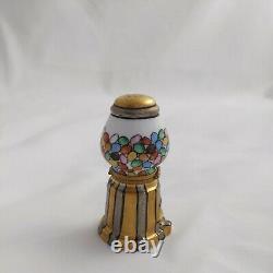 Limoges Gumball Machine Trinket Box Peint Main France- Vintage