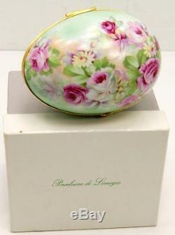 Limoges Hand Painted Multi-color oval Trinket Boxes withOriginal Box