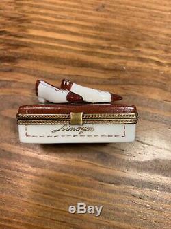 Limoges Hand Painted Shoe Trinket Box