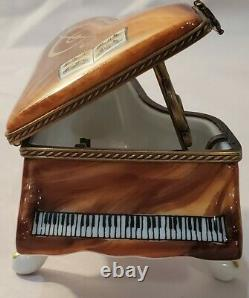 Limoges Harp Clasp Grand Piano Trinket Box Limited Edition 160/500 French Home