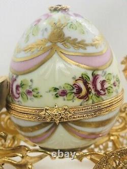 Limoges LaGloriette Peint Main Trinket Box Cinderellas Carriage Limited & Mint