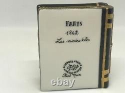 Limoges-Marque Depose-Peint Main-Les Miserables-Victor Hugo-Paris/1862 Trinket